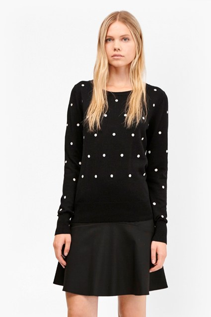 Polka Dot Knits Shrunken Jumper