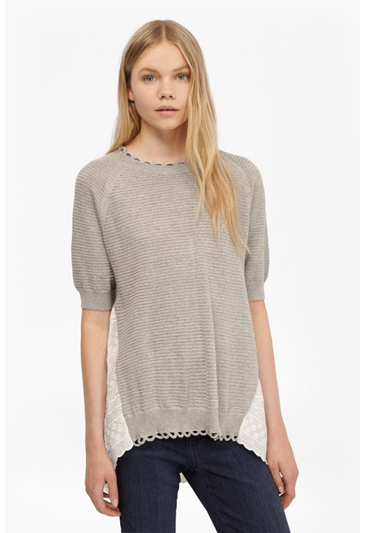 Celia Scallop Crochet Jumper