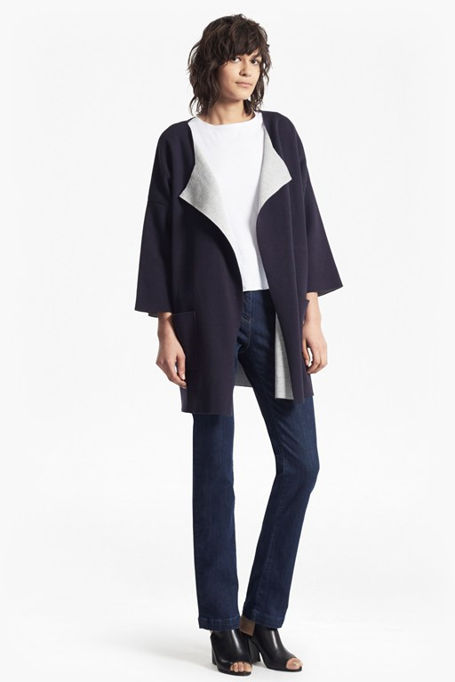 gemini knit oversized coatigan