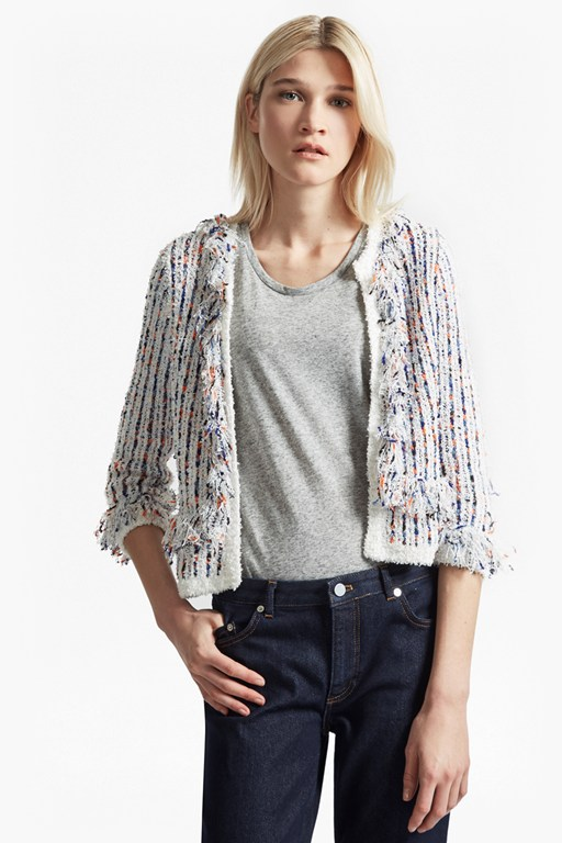 burliuk boucle knit shrunken cardigan