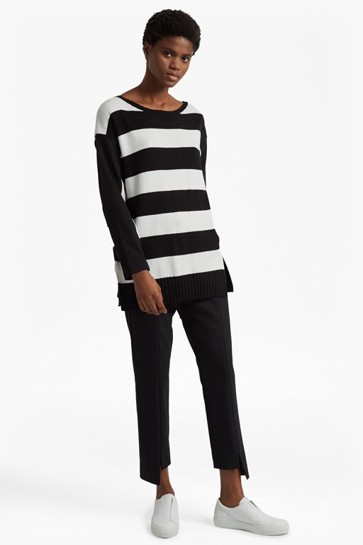 ollie striped knit crew neck jumper