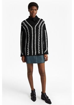 Ella Embroidered Wool Blend Jumper
