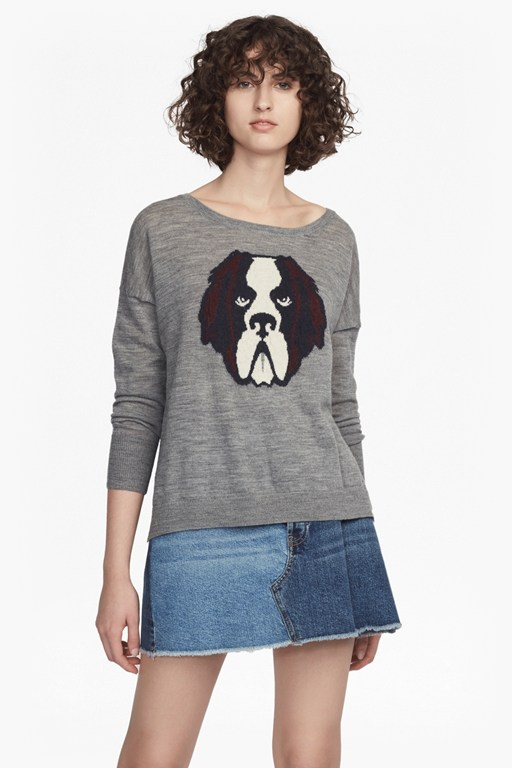otis fine knit crew neck jumper