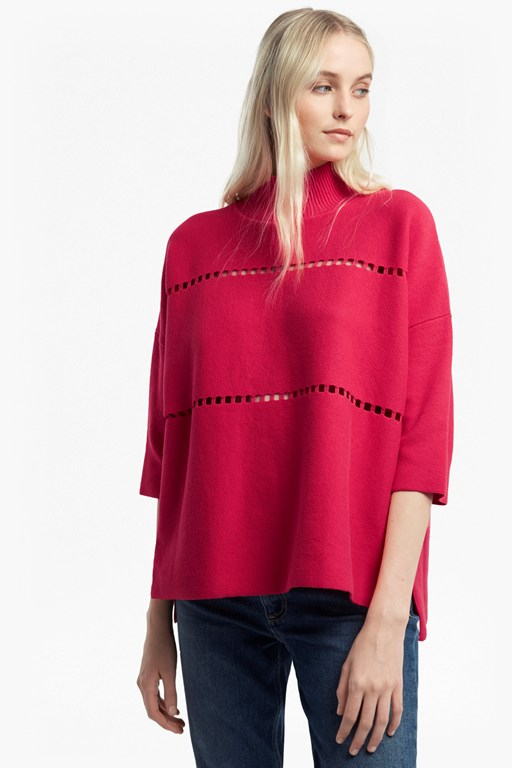 milano mozart laddered oversized  jumper