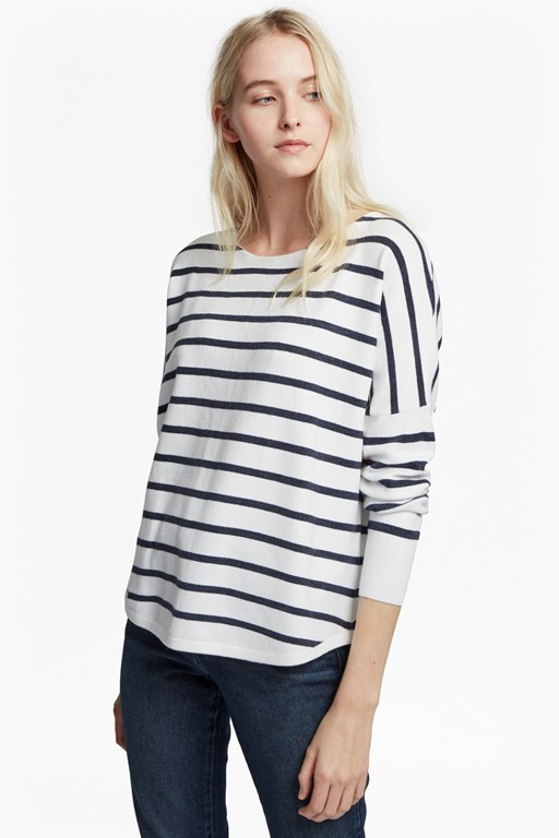 babysoft drop shoulder striped jumper
