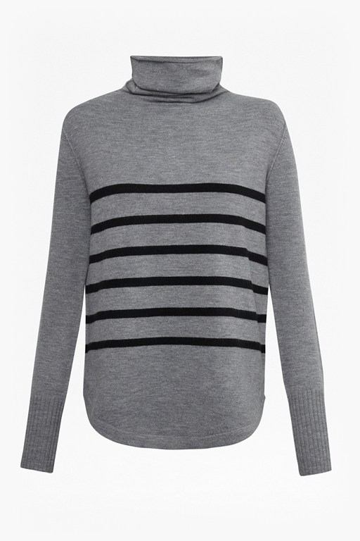 babysoft striped roll neck jumper