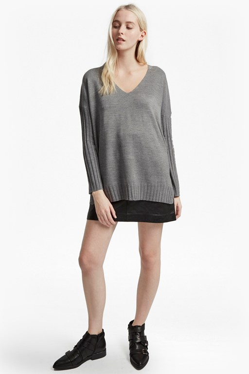 babysoft vhari ribbed v-neck jumper