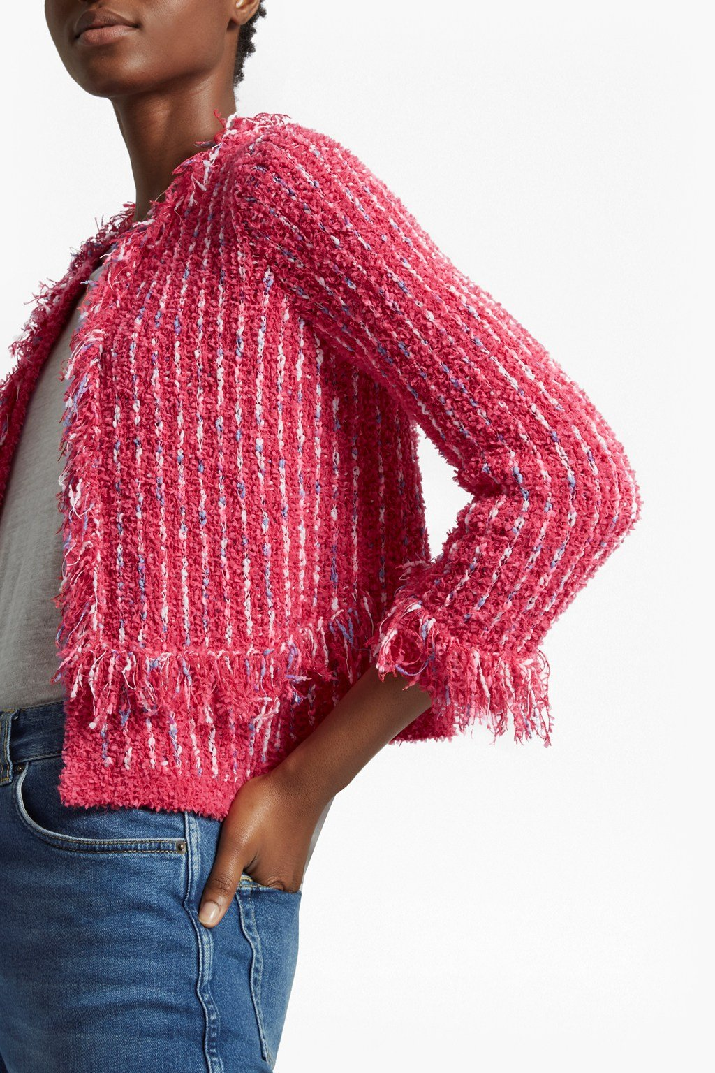 Burliuk Bouclé Knit Cardigan | Collections | French Connection