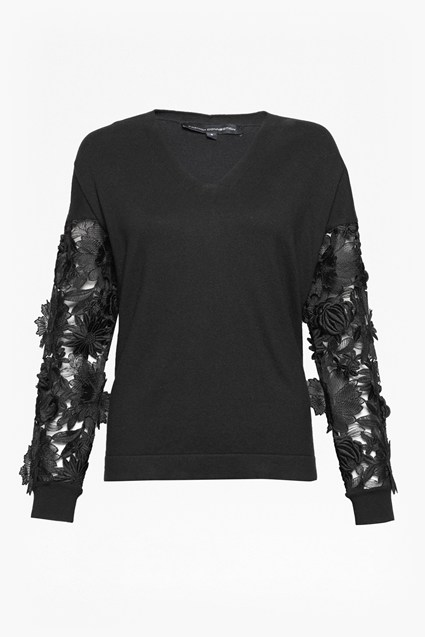 Manzoni Lace Sleeved Jumper