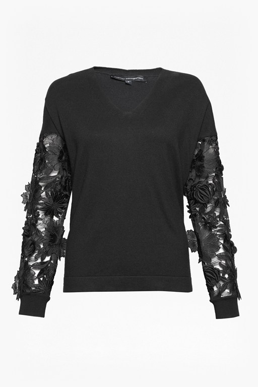 Complete the Look Manzoni Lace Sleeved Jumper