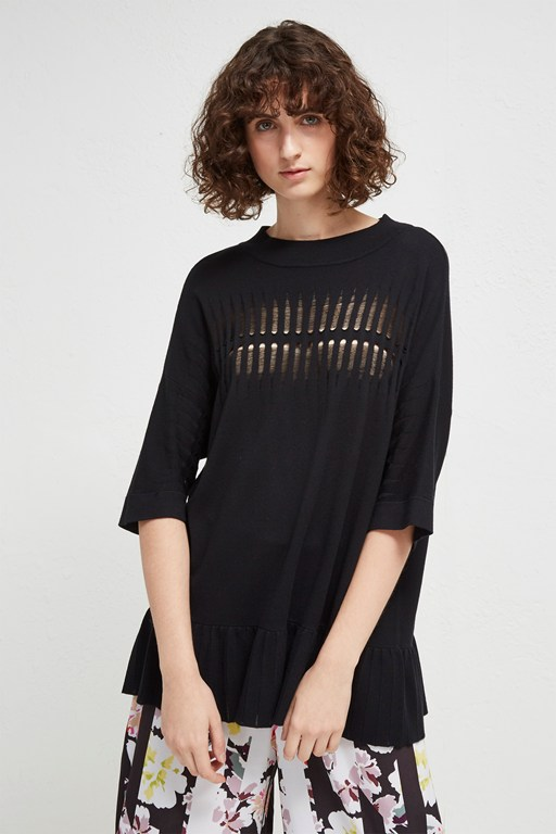 laila ladder knit jumper