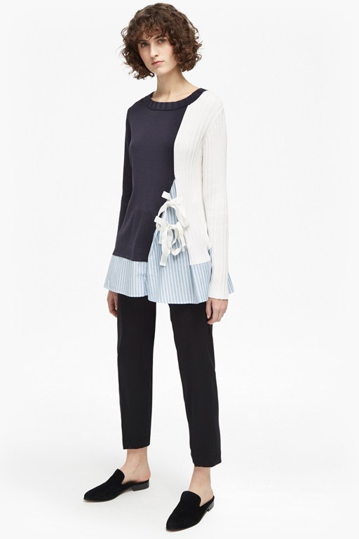 ivy knit crew neck jumper