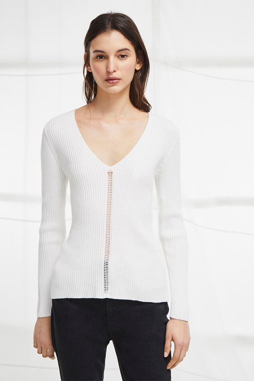 lois mozart v neck jumper