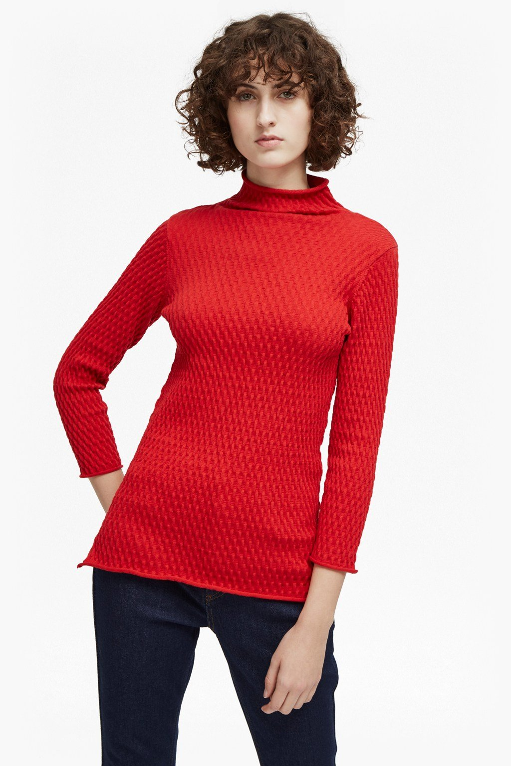 25e638dacef Molly Mozart Knit High Neck Jumper | Collections | French Connection