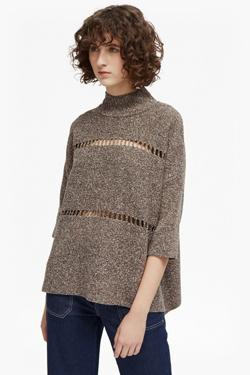 mozart marl high neck jumper