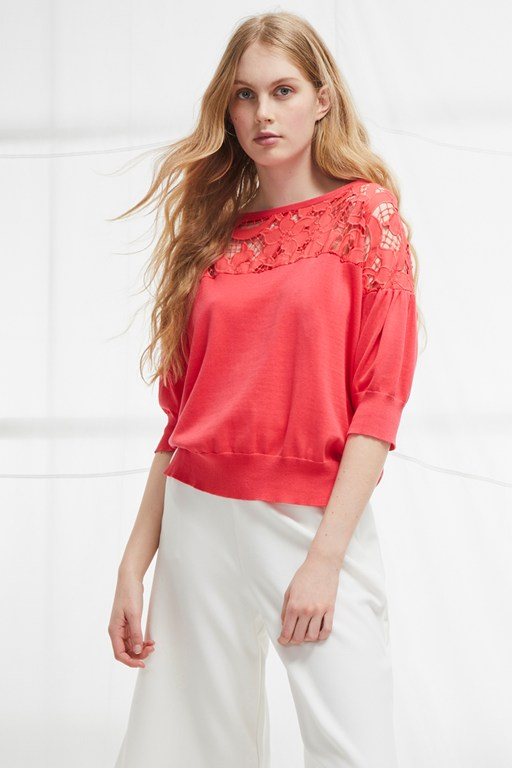 salerno knit lace jumper