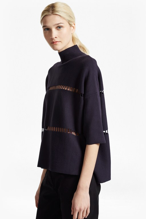 milano mozart high neck jumper