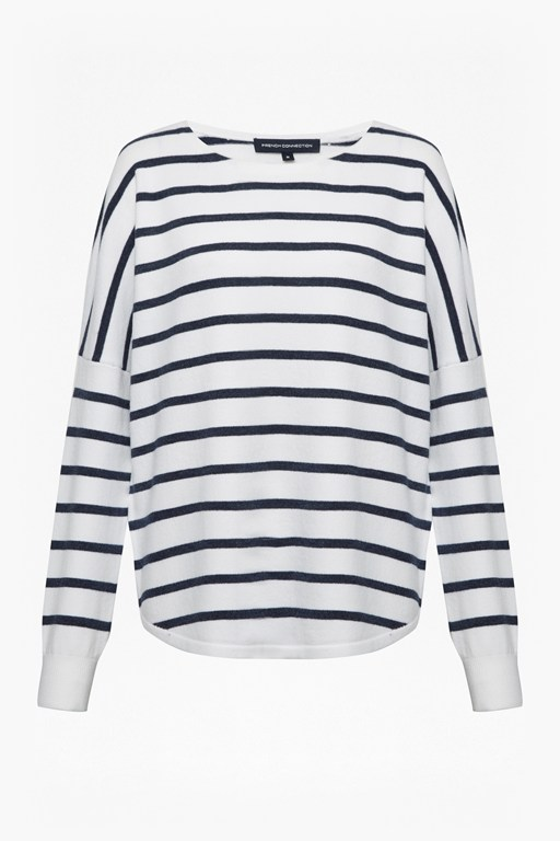 babysoft striped drop shoulder jumper