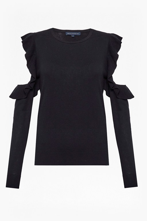 louise frill cold shoulder jumper