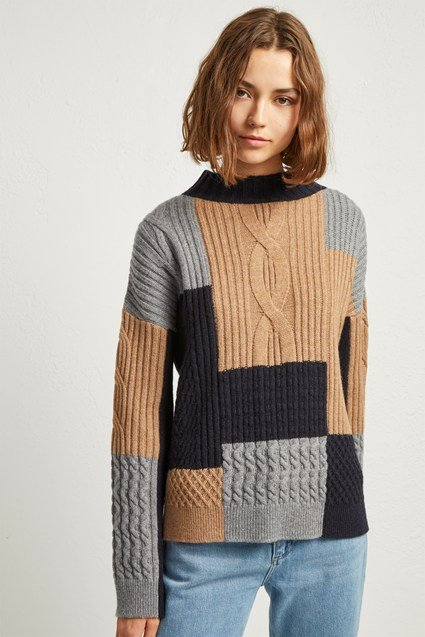 Amie Patch Knits Cable Jumper