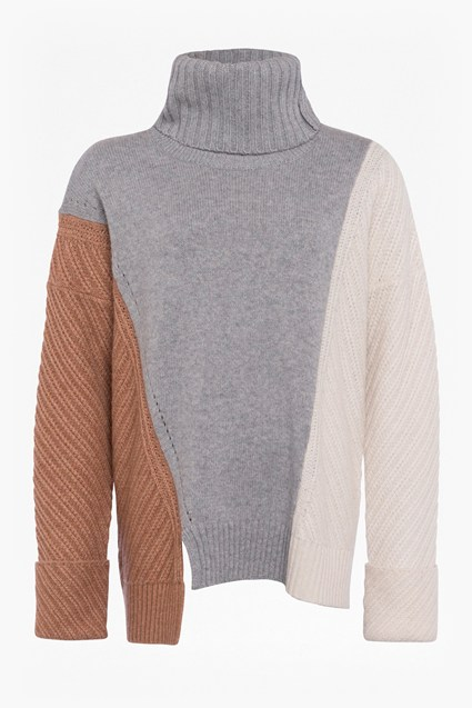 Viola Knit High Neck Jumper