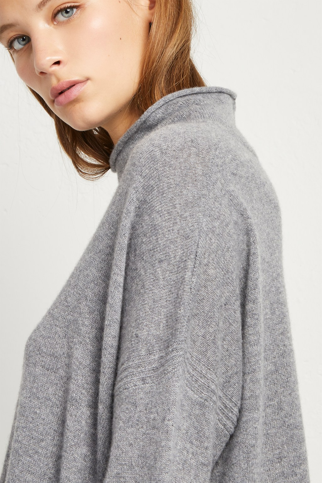 release date: strong packing 2019 factory price Eda Cashmere High Neck Jumper