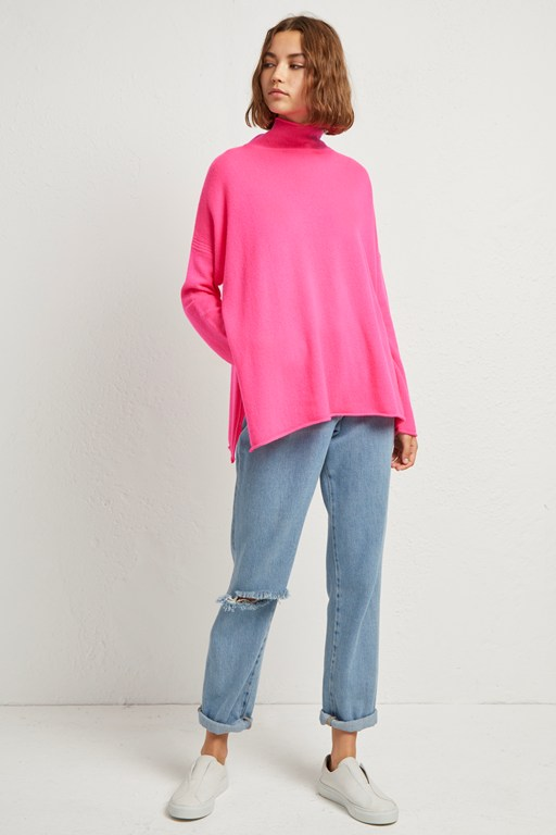 Complete the Look Eda Cashmere High Neck Jumper