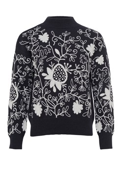 Sacha Embroidered Knit High Jumper