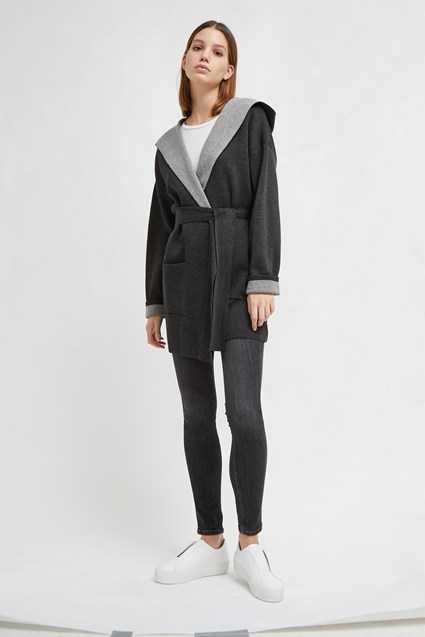 Gemini Knit Hooded Cardigan