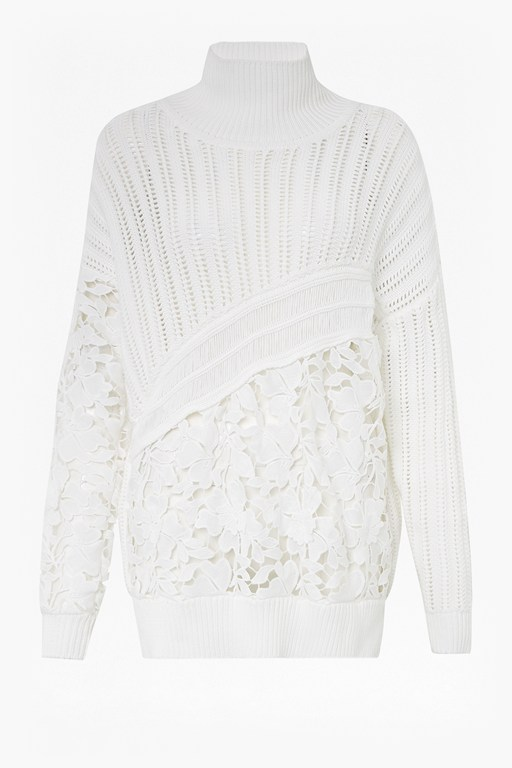 4df7521138 As Seen In Press patchwork mozart lace jumper