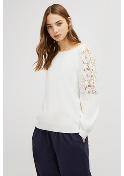 Ortic Reversible V Neck Lace Jumper