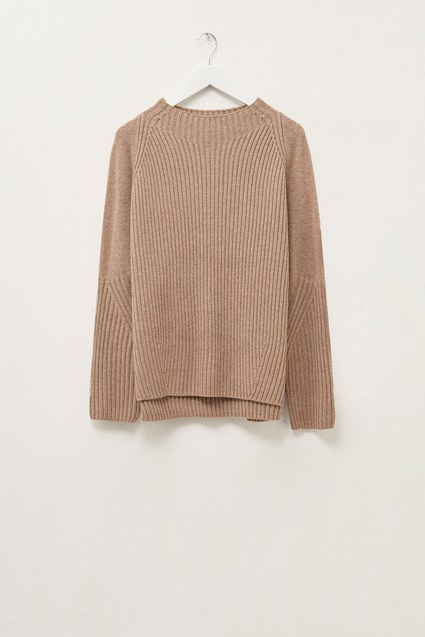 Tomasa Knit High Neck Jumper