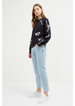 Rielle Embroidered Knit Crew Neck Jumper