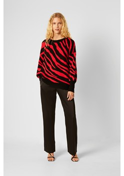 Tiger Jacquard Balloon Sleeve Jumper