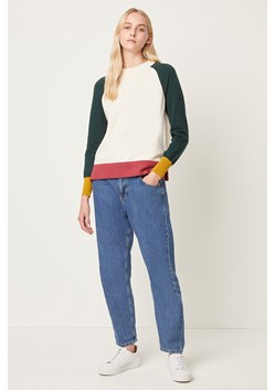 Colour Block Raglan Sleeve Jumper