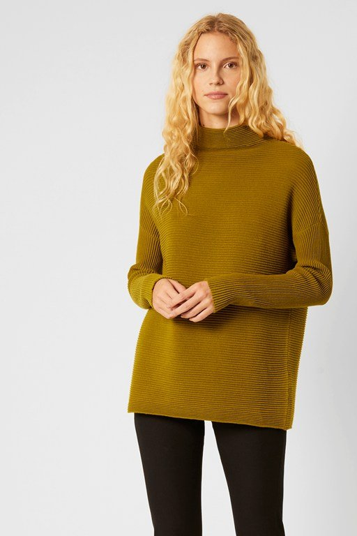 mozart knits high neck jumper