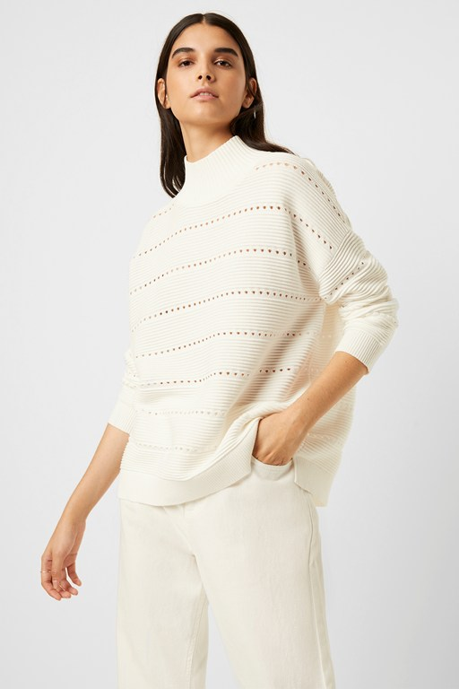 liliya mozart knit lace stripe jumper