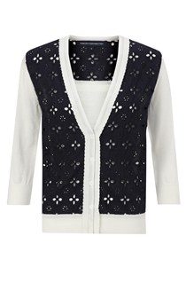 Broderie Anglaise Knitted Top