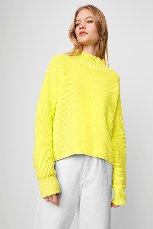 mozart ottoman neon high neck jumper