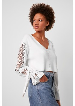 Leona Crop Lace Mix Jumper