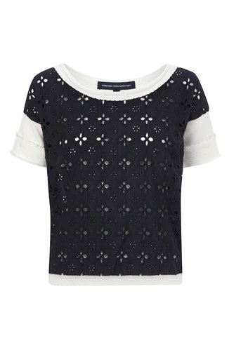 Broderie Anglaise Short Sleeve Top