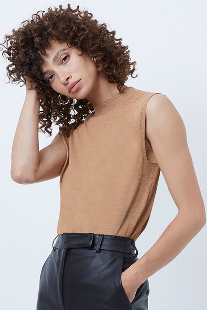 Klarise Knitted Sleeveless Jumper
