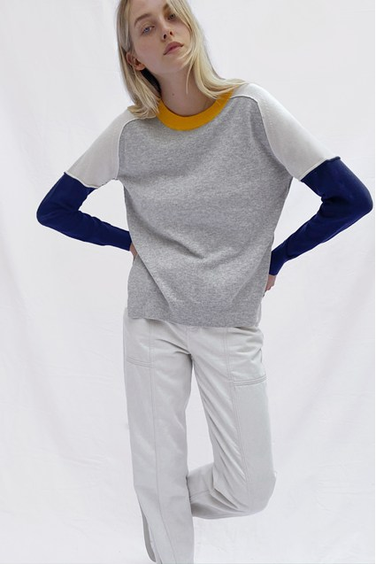 Kyra Colour Block Crew Neck Jumper