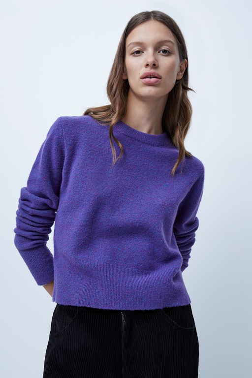 melange knits crew neck jumper