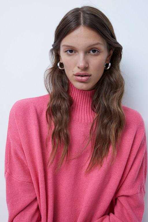 cashmere blend high neck jumper