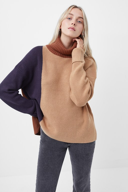 babysoft colourblock jumper