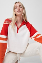 Martha Colourblock Half Zip Jumper