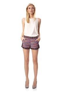 Sable Striped Shorts