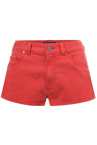 French Connection Cottone Blend Mini Shorts Red
