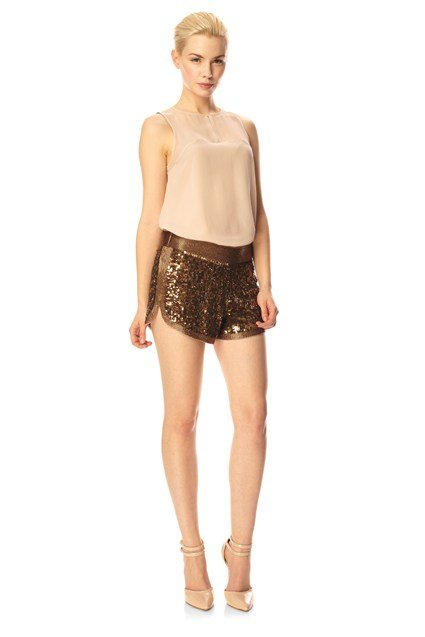French Connection Ella Sequins Shorts Pink